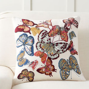 NEW Pottery Barn Sparkle Butterfly Pillow Cover